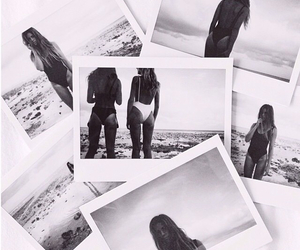 beach, black and white, and pictures image