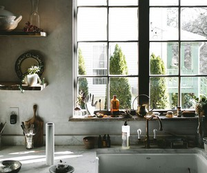 cups, window, and kitchen image