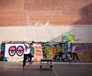 new york, skate, and street art image