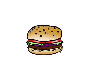hamburger, overlays, and piccollage image