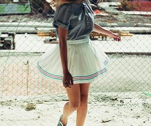 girl, skirt, and style image