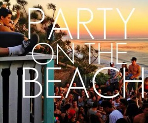 beach, party, and summer image
