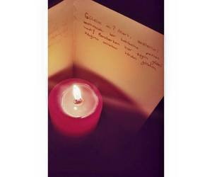 article, candle, and Letter image