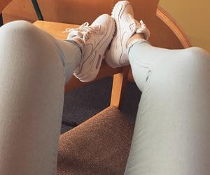beautiful, girl, and sneaker image