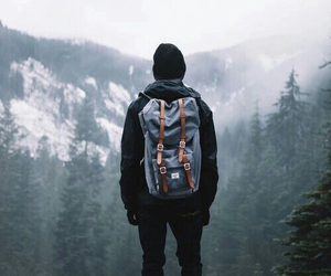 travel, boy, and mountains image