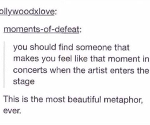 concert, texts, and tumblr image