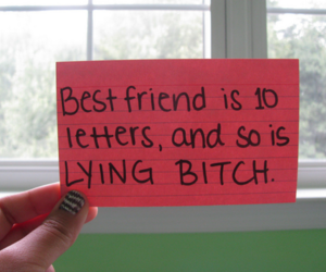 bitch, text, and friends image
