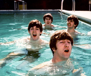 the beatles, beatles, and pool image