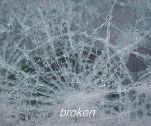 broken, glass, and sad image