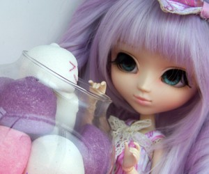 doll, cute, and lila image