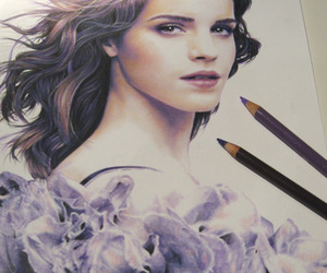 emma watson and drawing image