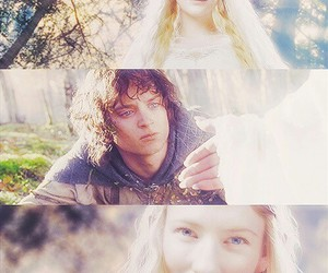 the lord of the rings, galadriel, and frodo image