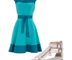 azul, chique, and roupas image