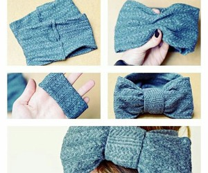 diy, bow, and headband image