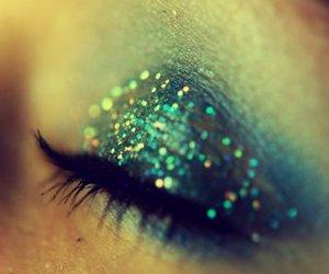 eye, glitter, and make up image