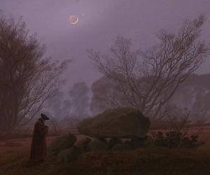 caspar david friedrich and a walk at dusk image