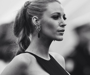 blake lively, gossip girl, and black and white image