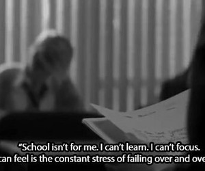 school, stress, and quote image