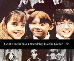 harry potter, hermione granger, and friendship image
