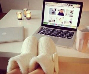 apple, laptop, and candle image