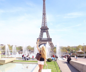 paris, girl, and summer image