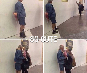 flowers, old couple, and old couple love image