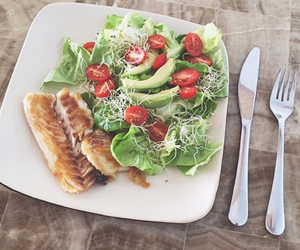 food, healthy, and fish image
