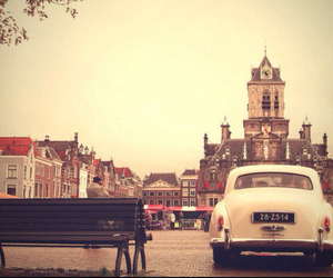 car, vintage, and city image