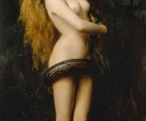 lilith, snake, and art image