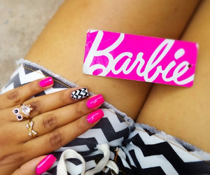 barbie, nails, and cute image