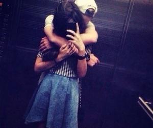 couple, feelings, and hugs image