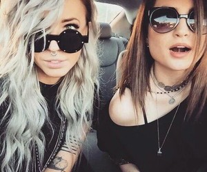girl, friends, and tattoo image