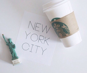 new york, starbucks, and city image