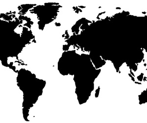 map, world, and black and white image