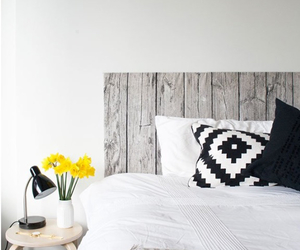 decoration, headboard, and wood image