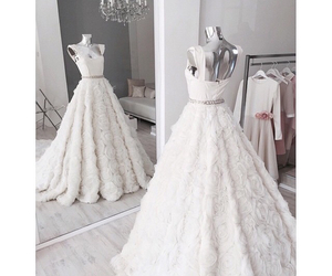 dress, beautiful, and wedding image