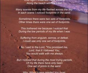 god, beach, and jesus image
