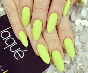 nails, yellow, and laque image