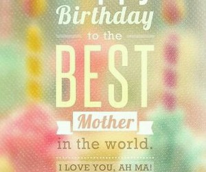 birthday and mother image