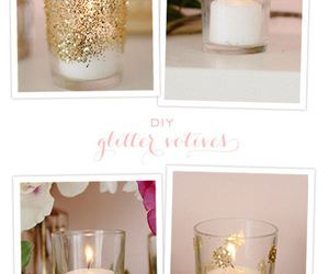 diy, glitter, and candle image