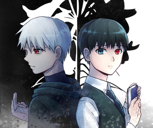 anime, blanco, and negro image