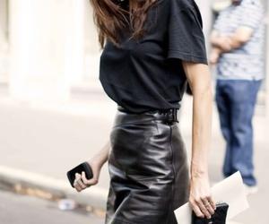 fashion, leather, and black image