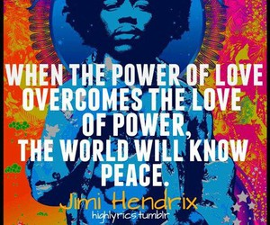 Jimi Hendrix, peace, and quote image