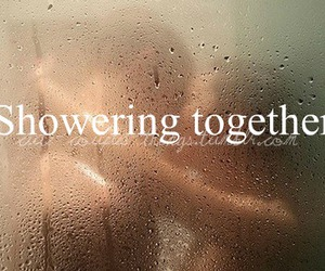 love, shower, and together image