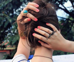 hair, hairstyle, and nails image