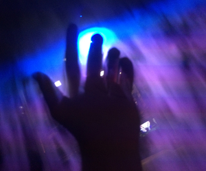 hand, blue, and grunge image