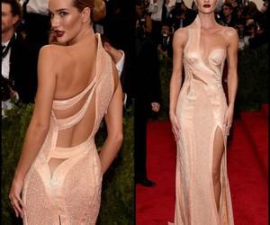 dress, model, and rosie huntington whiteley image