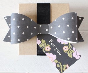 bow, diy, and floral image