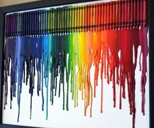 art, rainbow, and crayon image
