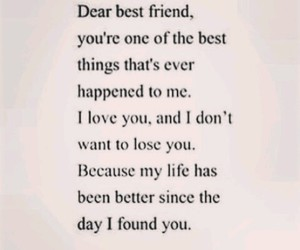 best friends, love, and life image